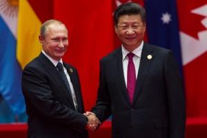 Chinese president Xi Jinping welcomes Russian President Vladimir Putin in G20 summit in Hangzhou © Photo by plavevski on Shutterstock